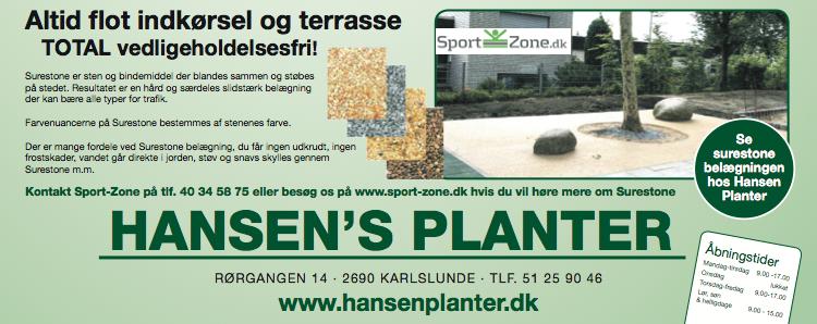 Se SureStone hos Hansens Planter i Karlslunde
